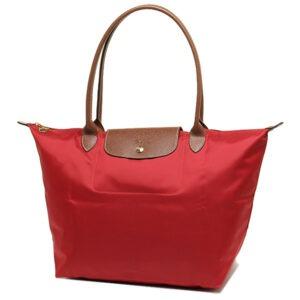 Longchamp 長柄 大購物包 胭脂紅 (545)