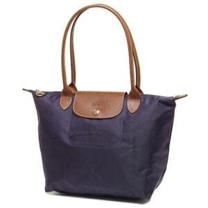 Longchamp 長柄 細購物包 紫色 (645)