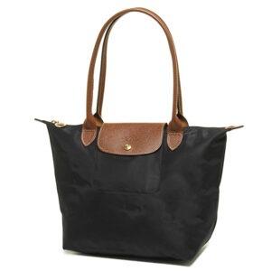 Longchamp 長柄 細購物包 黑色  (001)