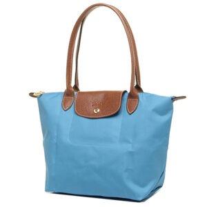 Longchamp 長柄 細購物包 海水藍  (807)