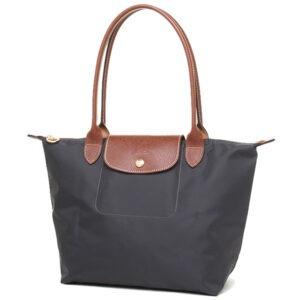 Longchamp 長柄 細購物包 鐵灰色 (300)