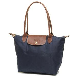 Longchamp 長柄 細購物包 海軍藍 (556)