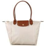 Longchamp 長柄 細購物包 紙白色 (555)