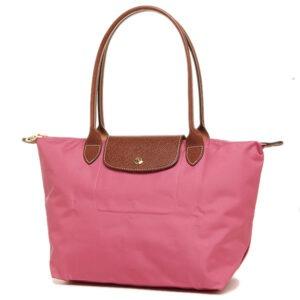 Longchamp 長柄 細購物包 牡丹粉 (A27)