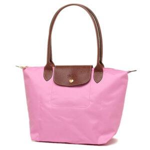 Longchamp 長柄 細購物包 玫瑰粉紅 (058)