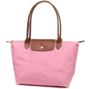 Longchamp 長柄 細購物包 粉紅 (P03)