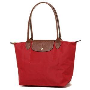 Longchamp 長柄 細購物包 胭脂紅 (545)