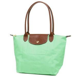 Longchamp 長柄 細購物包 青綠色 (590)